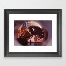 Coffee Stains Bull Framed Art Print