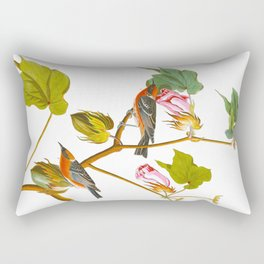 Bay-breasted Warbler Bird Rectangular Pillow