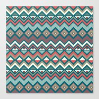 aztec Canvas Prints featuring Aztec. by Priscila Peress