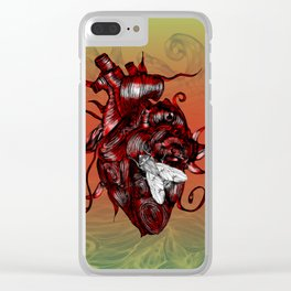 The Heart and the Fly Clear iPhone Case