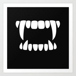 Vampire Teeth Art Print