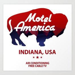 Motel America - American Gods Art Print