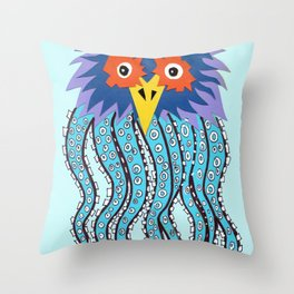 the owl of cthulu Throw Pillow
