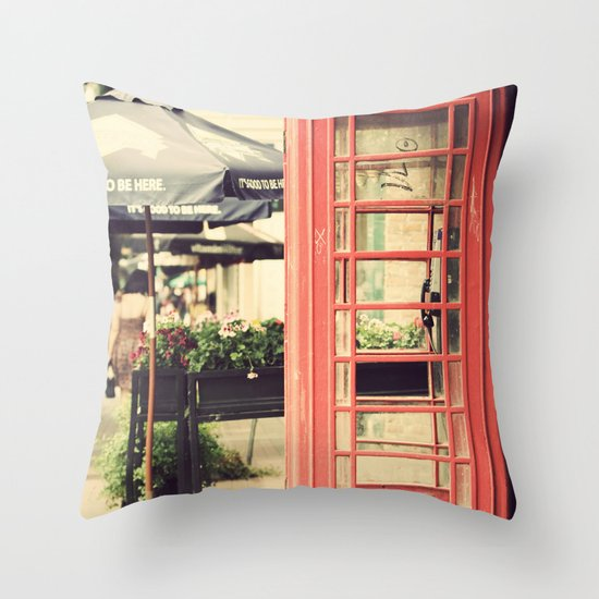 London calling ... Throw Pillow
