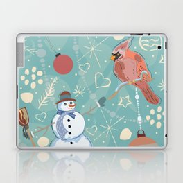Seamless Winter Pattern with Christmas Ornaments Laptop & iPad Skin