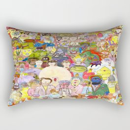 The Fuzzy Crowd Rectangular Pillow