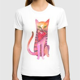 pet cat with precious prey T-shirt