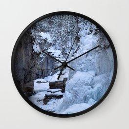 Icewalk in Maligne Canyon, Canada Wall Clock