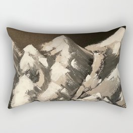 Silver Mountains Rectangular Pillow