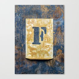 Letter F Canvas Print