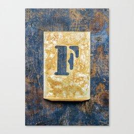Letter F Canvas Print