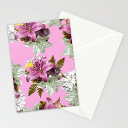 PINK LILY WHITE LILY SPRING TIME DELIGHT Stationery Cards