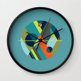 Scenarios, No. 2 on Blue Wall Clock