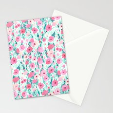 Flower Field Pink Mint Stationery Cards