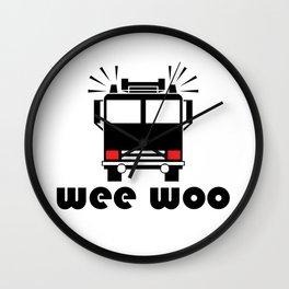 Firetruck Wee Woo Wall Clock