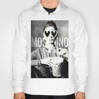 moschino Hoodies featuring Moschino Glasses by Claudio Velázquez