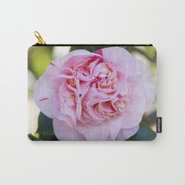 Strawberry Blonde Camellia Bloom Carry-All Pouch