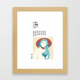 Calendar 2019 April Framed Art Print