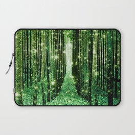 Magical Forest Green Elegance Laptop Sleeve