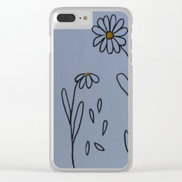 Daisies Clear iPhone Case