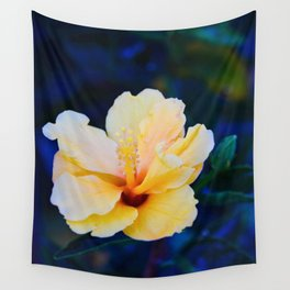 Peachy Blue Wall Tapestry