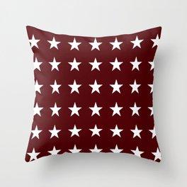 Stars on Maroon Throw Pillow