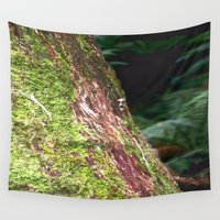 moss Wall Tapestries featuring Moss & Fungi by Chris' Landscape Images & Designs