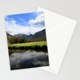 Watercolor Landscape, East Inlet Trail 04, Colorado Stationery Cards