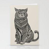 british Stationery Cards featuring Polynesian British Shorthair cat by Huebucket