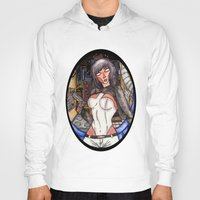 ghost in the shell Hoodies featuring Motoko Kusanagi from Ghost in the Shell by Jazmine Phillips