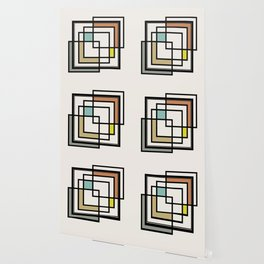 Mid Century Modern Squares Wallpaper