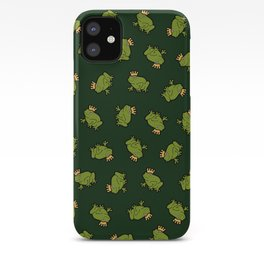 Frog Prince Pattern iPhone Case