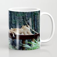lions Mugs featuring Lions by Georgia