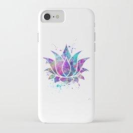 Lotus Flower Watercolor Print Wall Art Wedding Gift Zen decor iPhone Case