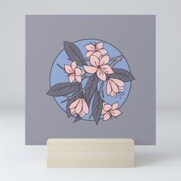 Sakura Branch - Rose Quartz + Serenity Mini Art Print