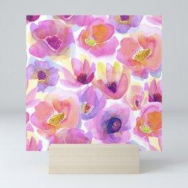 Head-Over-Heels Flowers - Pink Mini Art Print