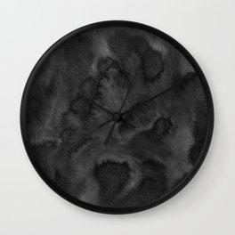Black Ink Art No 1 Wall Clock