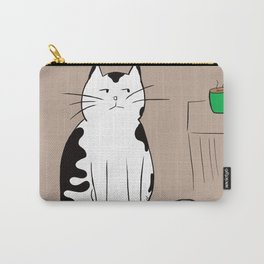 Java the Coffee Cat Carry-All Pouch