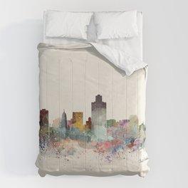 salt lake city skyline Comforters