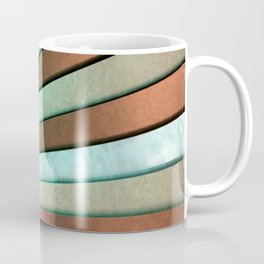 Chromatic Fan - Copper, Red and Turquoise Coffee Mug