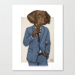 Good Morning, Dapper Doge Canvas Print