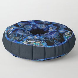 Electric Blue Planet Floor Pillow