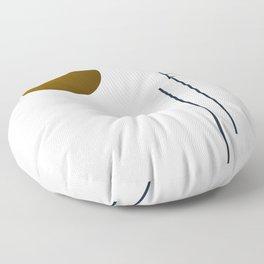 Soir 05 // ABSTRACT GEOMETRY MINIMALIST ILLUSTRATION Floor Pillow