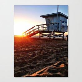 "Redondo Beach ""Life Guard Tower 3"" Canvas Print"