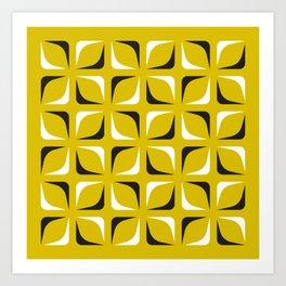 Geometric Pattern 143 (mustard) Art Print