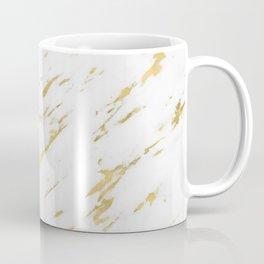 Marble - Yellow Gold Marble Design Coffee Mug