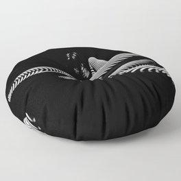 8428-KMA BW Art Nude Abstract Zebra Stripe Woman Long Legs Floor Pillow