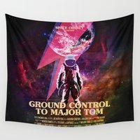 nasa Wall Tapestries featuring Space Oddity by Artworks by PabloZarate Inc.
