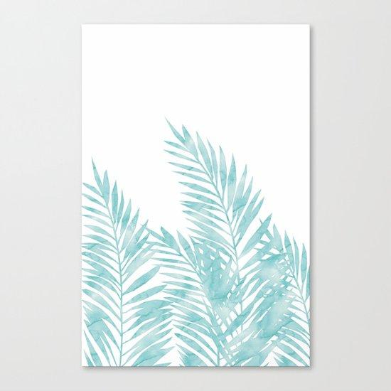 Palm Leaves Island Paradise Canvas Print