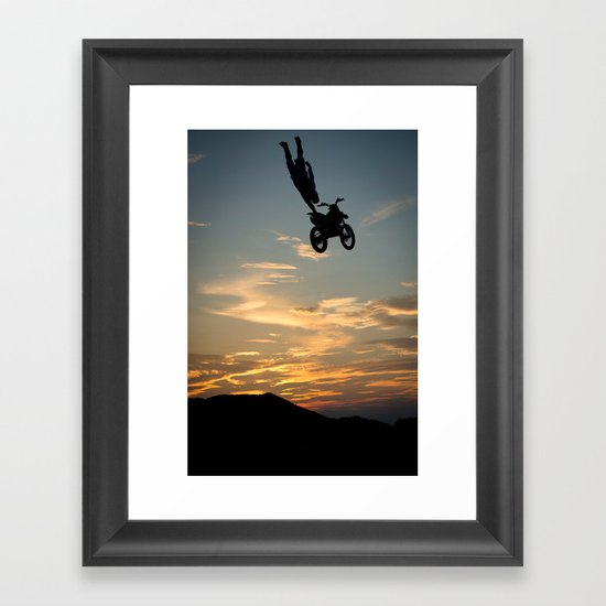 Kugimura Kota One Handing at Sun Set, FMX Japan Framed Art Print